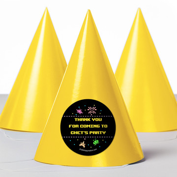 80S Personalized Party Hats (8 Count)