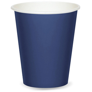 Navy Blue 9oz Paper Cups (8 Count)