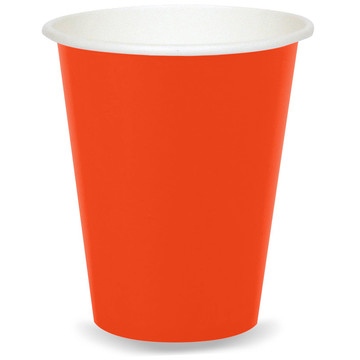 9 oz Cups Pumpkin Orange (8)