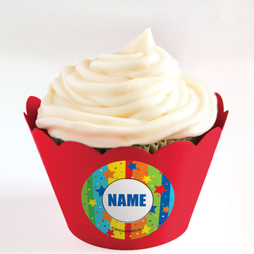 A Year to Celebrate Personalized Cupcake Wrappers (Set of 24)