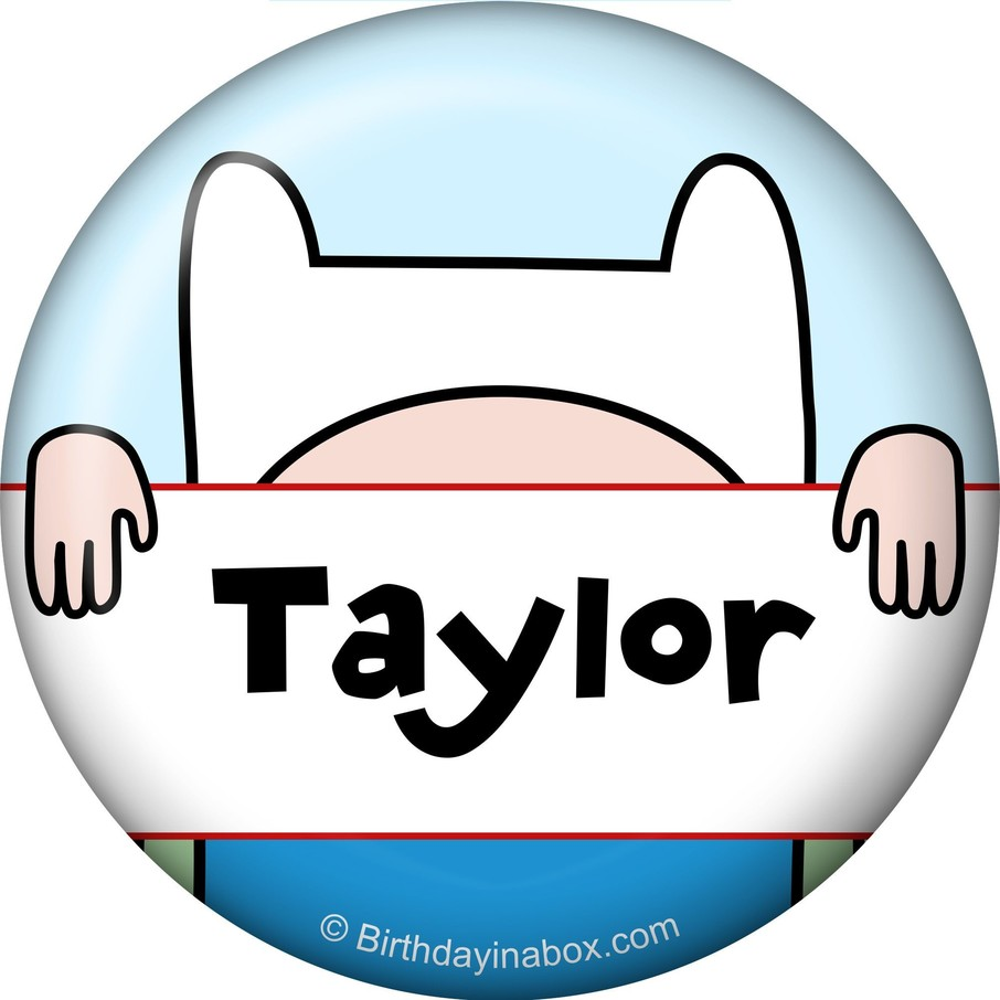 View larger image of Adventure Time Personalized Mini Button (Each)