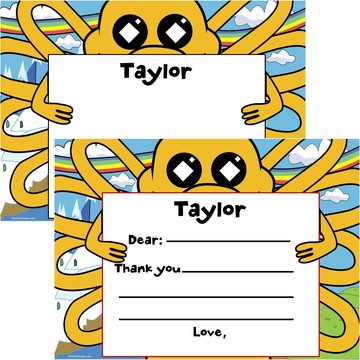 Adventure Time Personalized Thank You Note (Each)