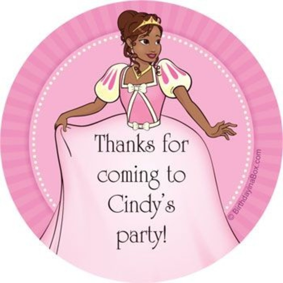 View larger image of African American Princess Personalized Stickers (sheet of 12)