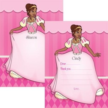 African American Princess Personalized Thank You (each)