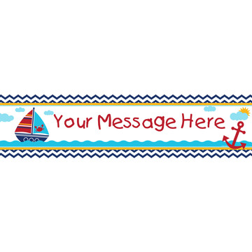 Ahoy Matey Personalized Banner (Each)