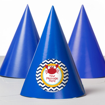 Ahoy Matey Personalized Party Hats (8 Count)