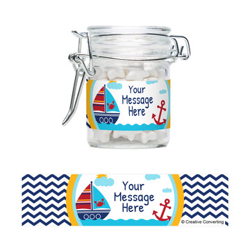 Ahoy Matey Personalized Swing Top Apothecary Jars (12 ct)