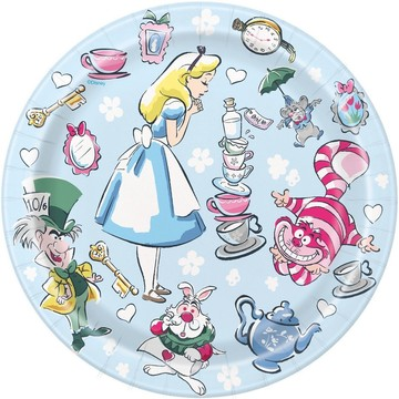 "Alice in Wonderland 7"" Dessert Plates (8)"