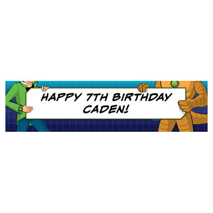 View larger image of Alien Hero Personalized Banner (each)