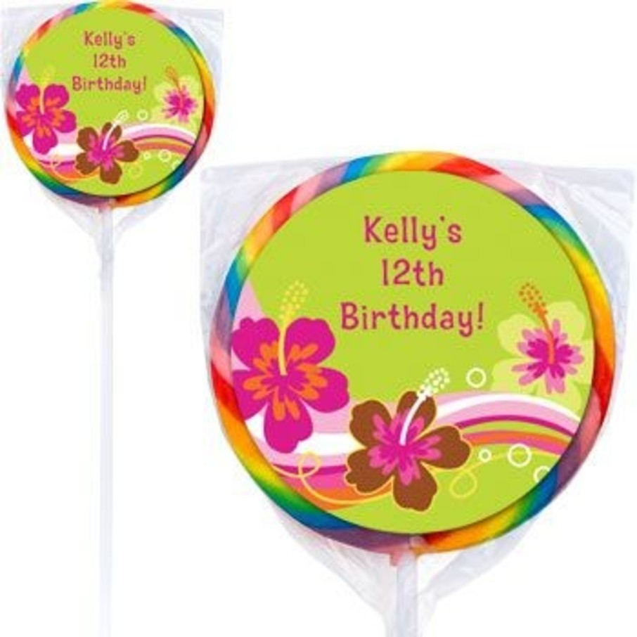 View larger image of Aloha Luau Personalized Lollipops (pack of 12)