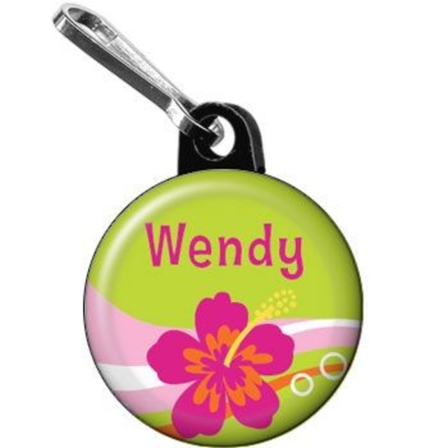 View larger image of Aloha Luau Personalized Mini Zipper Pull (each)