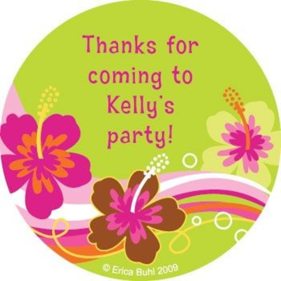 View larger image of Aloha Luau Personalized Stickers (sheet of 12)