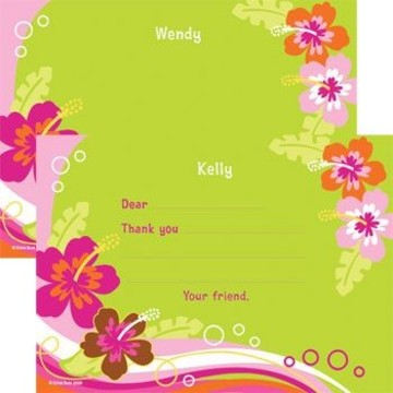 Aloha Luau Personalized Thank You Note (each)