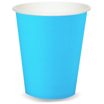 Bright Blue 9oz Paper Cups(8)