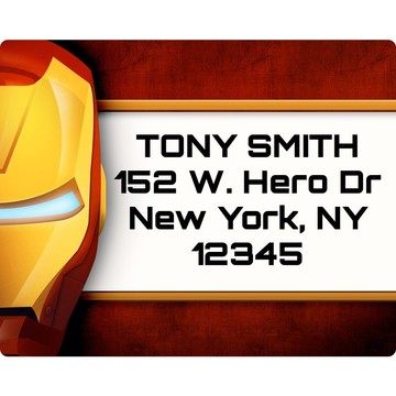 Armor Man Personalized Address Labels (Sheet Of 15)