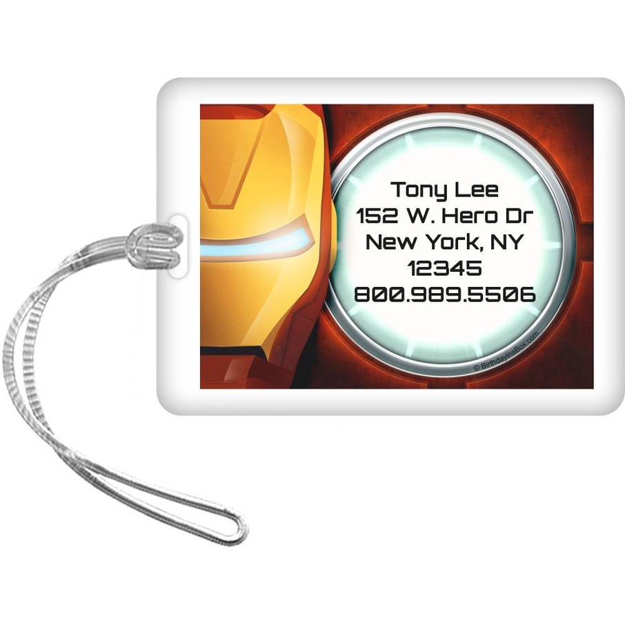 View larger image of Armor Man Personalized Luggage Tag (Each)