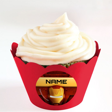 Armour Man Personalized Cupcake Wrappers (Set of 24)