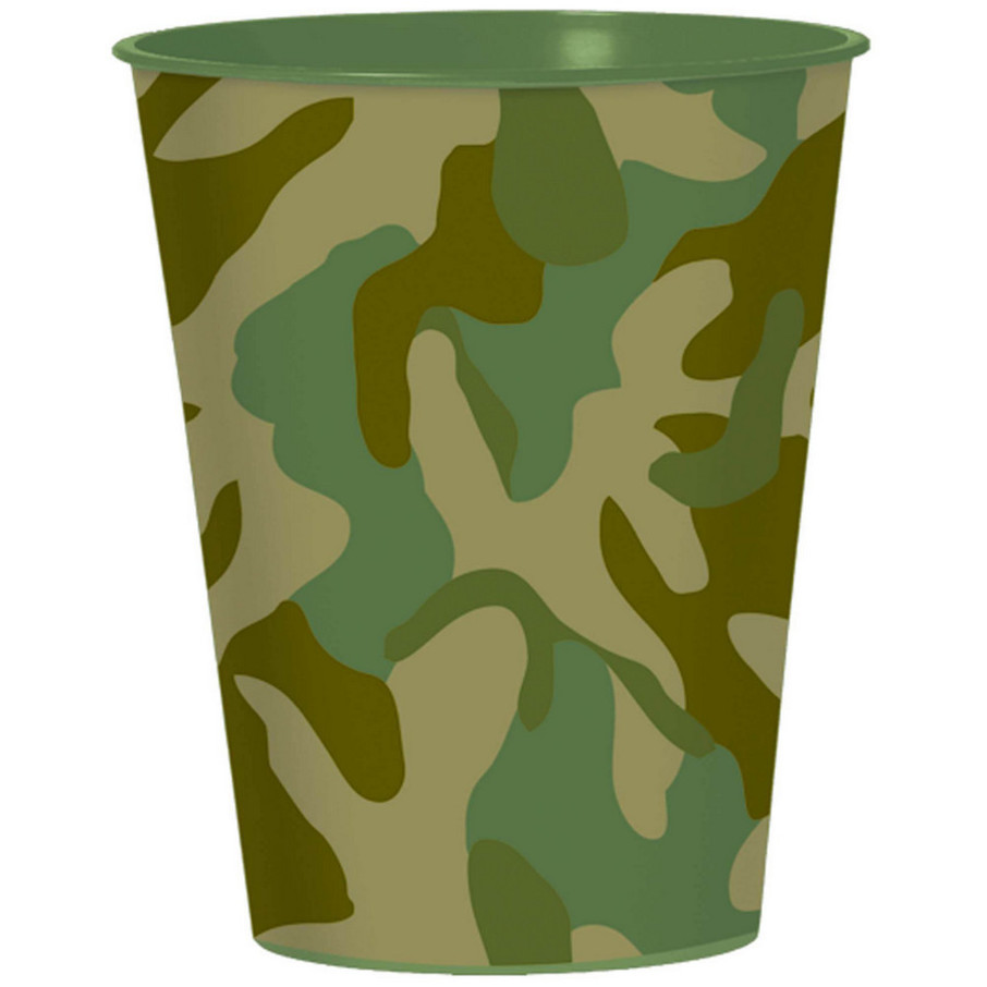 View larger image of Army Camo 16oz Favor Cup (Each)
