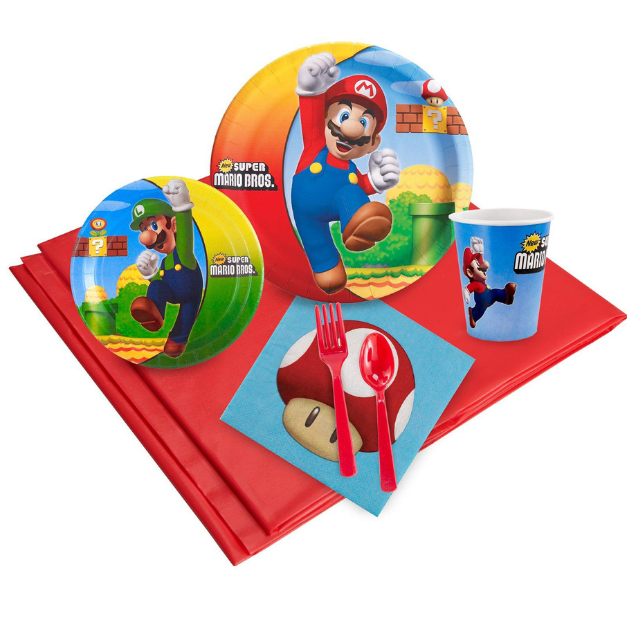 View larger image of Super Mario Brothers 16 Guest Party Pack