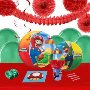 Super Mario Brothers 16 Guest Tableware Deco Kit