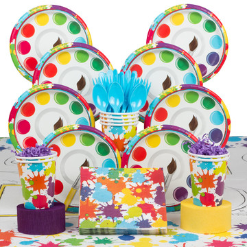 Art Party Deluxe Tableware Kit (Serves 8)