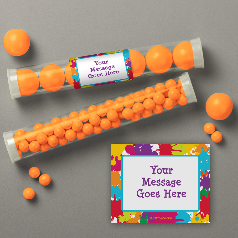 View larger image of Art Party Personalized Candy Tubes (12 Count)