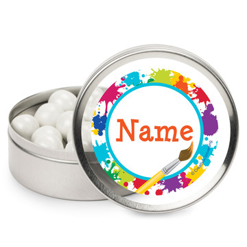 Art Party Personalized Mint Tins (12 Pack)