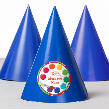 Art Party Personalized Party Hats (8 Count)