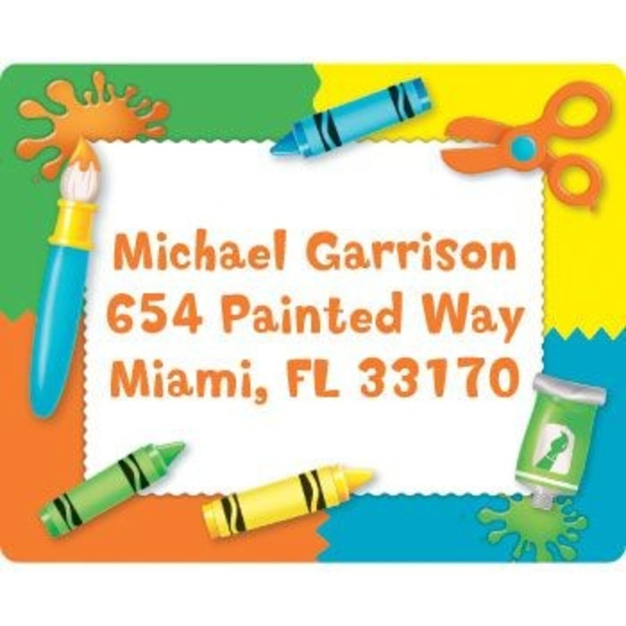 View larger image of Art Personalized Address Labels (sheet of 15)