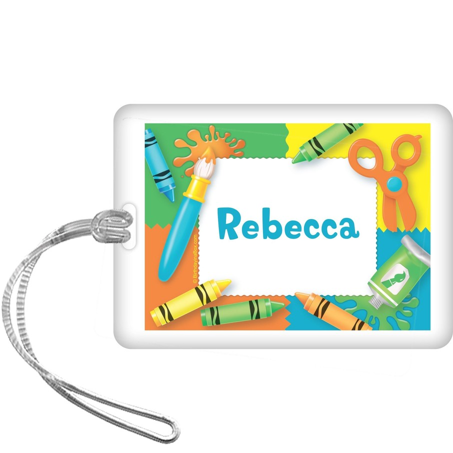 View larger image of Art Personalized Bag Tag (each)