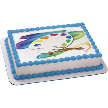 Artist Quarter Sheet Edible Cake Topper (Each)