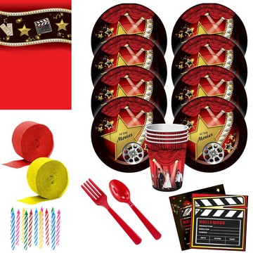 At The Movies Deluxe Tableware Kit (Serves 8)