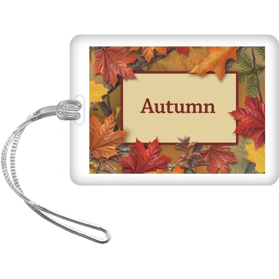 View larger image of Autumn Leaves Personalized Bag Tag (Each)