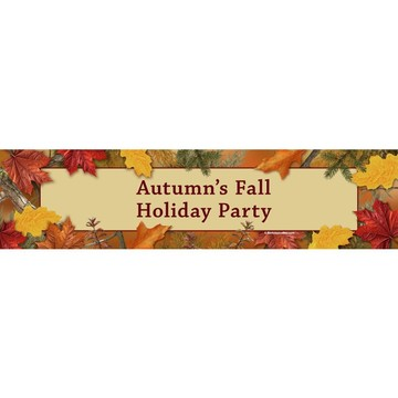Autumn Leaves Personalized Banner (Each)