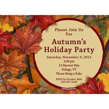 Autumn Leaves Personalized Invitation (Each)