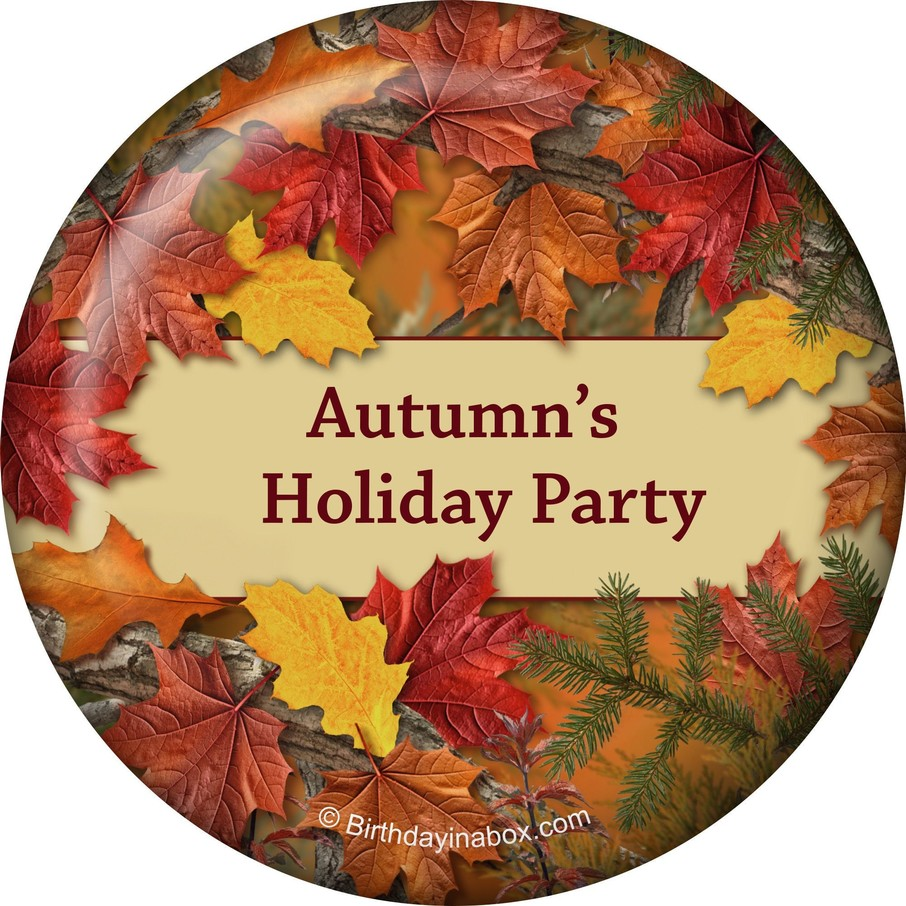 View larger image of Autumn Leaves Personalized Magnet (Each)