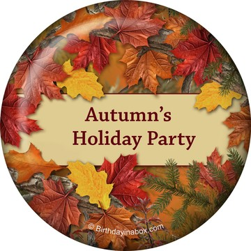 Autumn Leaves Personalized Magnet (Each)