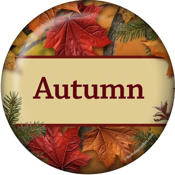 Autumn Leaves Personalized Mini Button (Each)