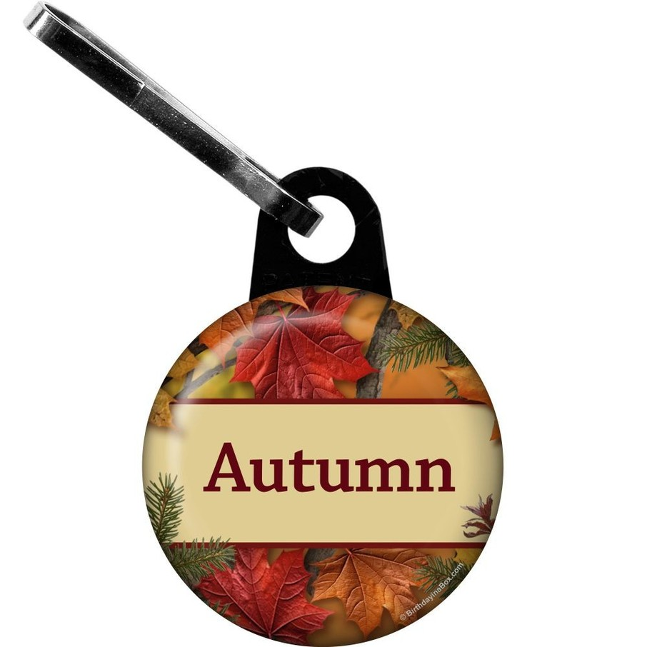 View larger image of Autumn Leaves Personalized Zipper Pull (Each)