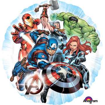 "Avengers Assemble 17"" Balloon (Each)"