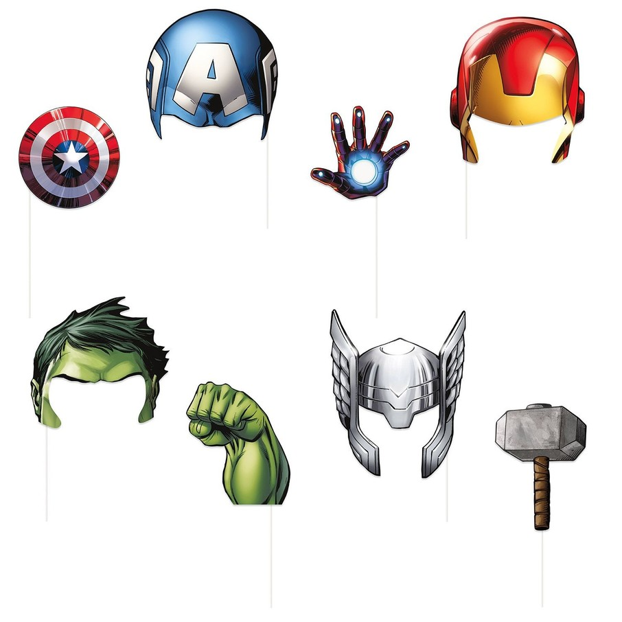 View larger image of Avengers Photo Booth Props