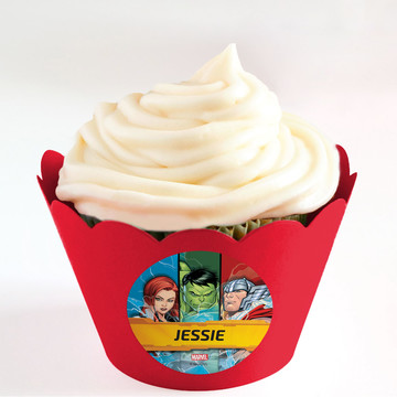 Avengers Set 2 Personalized Cupcake Wrappers (Set of 24)