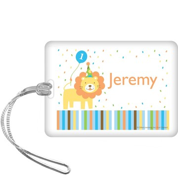 Baby Animals 1st Birthday Boy Personalized Bag Tag (each)
