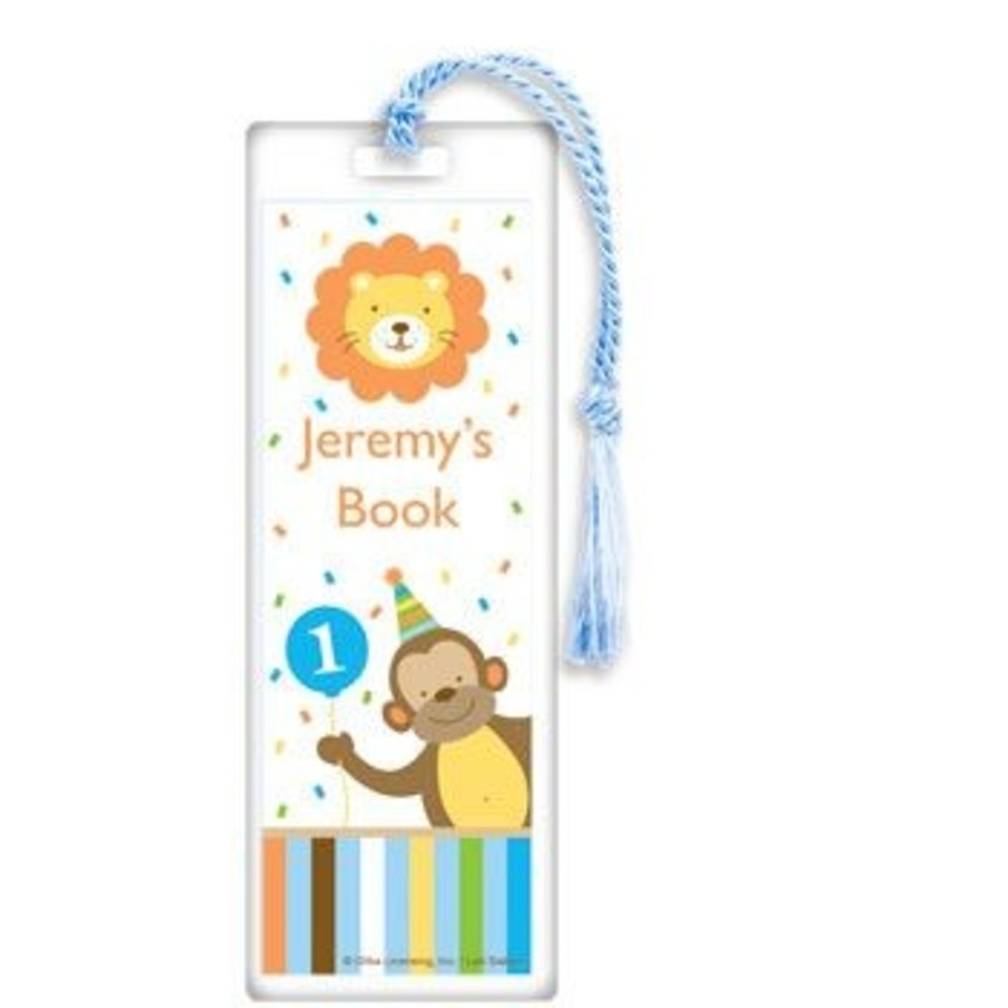 View larger image of Baby Animals 1st Birthday Boy Personalized Bookmark (each)