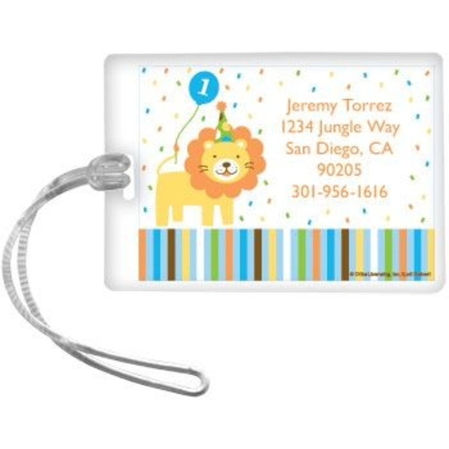 View larger image of Baby Animals 1st Birthday Boy Personalized Luggage Tag (each)