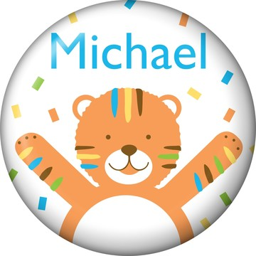 Baby Animals 1st Birthday Boy Personalized Mini Button (Each)