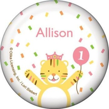 Baby Animals 1st Birthday Girl Personalized Button (each)