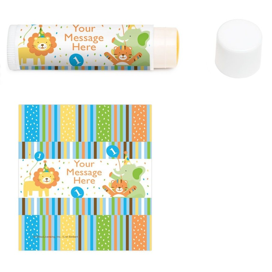 View larger image of Baby Animals 1st Birthday Girl Personalized Lip Balm (12 Pack)