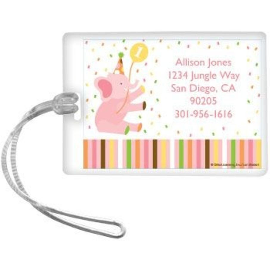 View larger image of Baby Animals 1st Birthday Girl Personalized Luggage Tag (each)