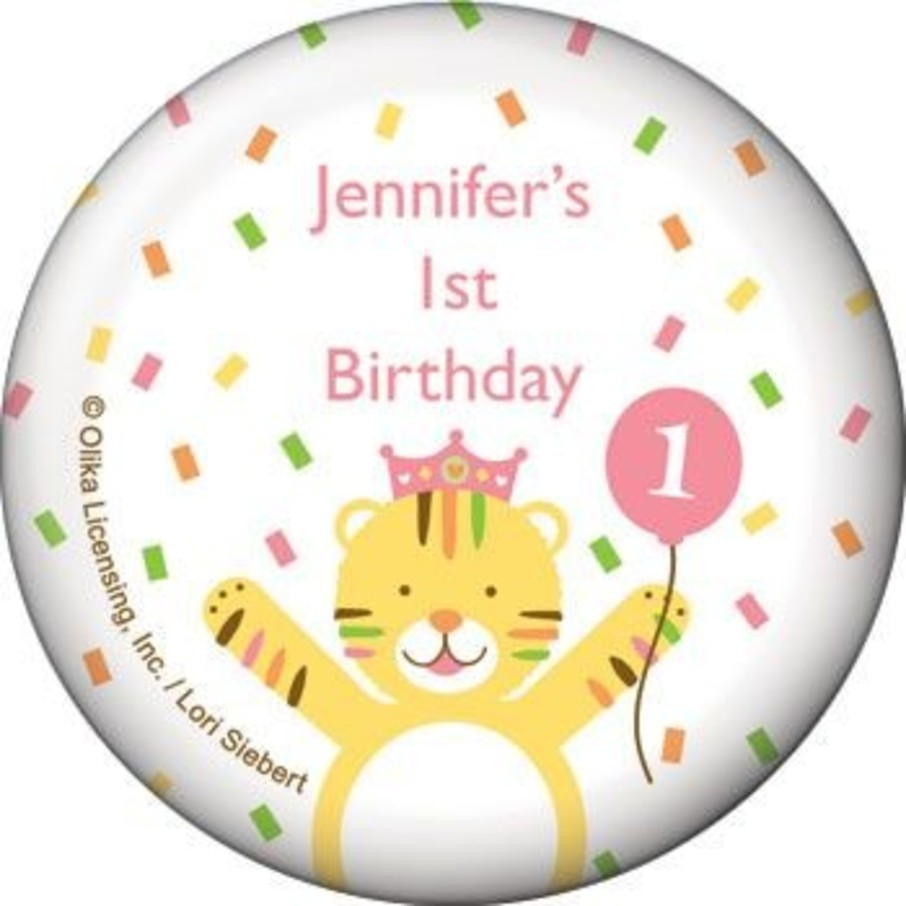 View larger image of Baby Animals 1st Birthday Girl Personalized Magnet (each)